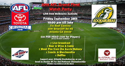 Atlanta AFL Grand Final Party