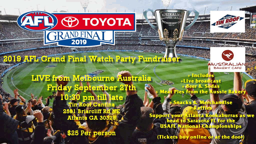 Atlanta AFL Grand Final Watch Party